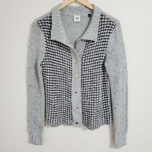 CAbi Gray Knit Button Up Cardigan Size S